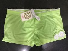 NWT Juicy Couture New & Gen. Green Cotton Sleep Shorts Size UK 8/10 With Logo