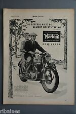 R& L Ex-Mag Advert: Norton Dominator / Dunlop Tyres, Travers Trial J.V Brittain