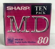More details for 20 x brand new & sealed sharp md-r 80 minute blank recordable minidisc