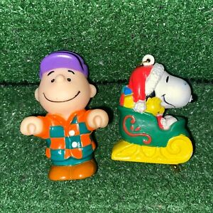 Vintage 1989 Peanuts Charlie Brown & Snoopy Mcdonalds Happy Meal Toys