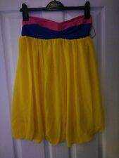 Rare strapless Tube Tulip Hem Yellow Micro Dress Size 12 RRP £49 BNWT