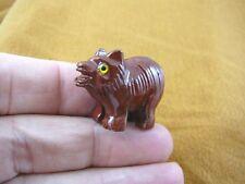 (Y-Tas-De-1) little red gray Tasmanian Devil marsupial figurine Soapstone Peru