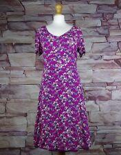 LAURA ASHLEY pink floral tea dress size 14