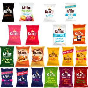 Kettle Chips Crisps Cheddar Sea Salt Vegetable Variety Bags Different Flavours