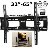 TV Wall Bracket Mount Tilt Slim For 32 35 40 45 50 55 60 65 Inch LCD LED Plasma