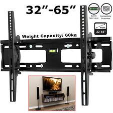 TV Wall Bracket Mount Tilt Slim For 32 35 40 45 50 55 60 65 Inch LCD LED Plasma