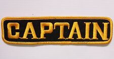 CAPTAIN EMBROIDERED PATCH 140x35mm WOVEN CLOTH RACING RALLY TEAM BADGE SEW-ON