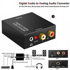 Optical Coax Toslink Digital to Analog Converter Audio Adapter RCA LR Stereo AUX