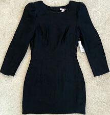 H&M WOMENS BLACK SHOULDER PAD METALLIC SHINE MINI DRESS NWT! $50 2
