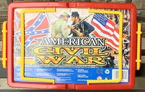AMERICAN CIVIL WAR PLAYSET by Hing Fat  Soldiers, Cannons, Horses, Carrying Case