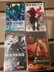 SONY PSP 4 GAMES BUNDLE - METAL GEAR SOLID