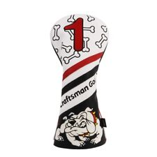White Black Red Bulldog Driver Headcover Head Cover For Taylormade Titleist Ping