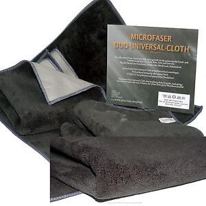 3 Microfaser Tuch Tücher Mikrofaser Poliertücher Duo Universal Grau Set 550g/m²