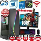 Fast Gaming Pc Computer Bundle Intel Core I5-4440 16gb 1tb Windows 10 2gb Gt710