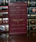 Constitution and the Declaration of Independence New Pocket Leather Bound Gift