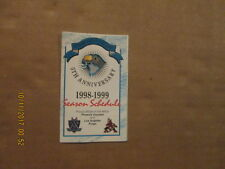 Ahl Springfield Falcons Vintage Circa 1998-99 Logo Hockey Pocket Schedule