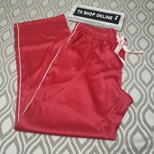 LARGE Victoria's Secret The afterhours Red Satin Pajama Pants NWT