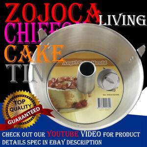 Professional Grade Aluminium Angel Food Cake Pan Chiffon Cake Tin 25.4cm W/Legs