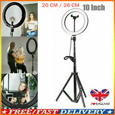 "10"" LED Ring Light Studio Photo Video Dimmable Lamp Tripod Selfie Phone Stands~"
