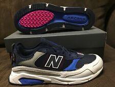 DS New Balance MSXRCTRE X-RACER BLUE/GREY WHITE SUEDE Running Shoe 580 SZ 13US
