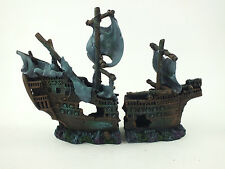 Large Fish Tank Aquarium Shipwreck Ruined Boat Ornament Decoration #2273E