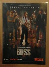 Starz Cable TV Show BOSS Kelsey Grammer Original Print Ad Advertising