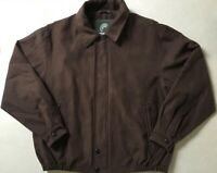 Weatherproof Garment Company Jacket Mens Large Brown Soft Outer Casual Dressy