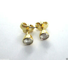 14K Beautiful White 4mm Rose Cut Diamond Earring Studs @ Free Ship