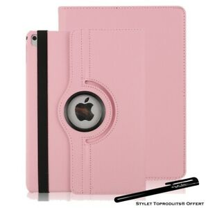 Housse Etui Rose pour Apple iPad Air / Air 2 Coque Support Rotatif 360°