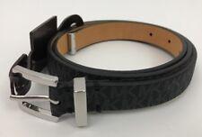 NWT Michael Kors Women's MK Logo Belt  Black Size M