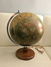 Arthur Krause 1950 mappamondo vintage Globe terrestre illuminazione light