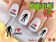 """RTG Set#590 IMAGE """"I Love Zombies"""" WaterSlide Decals Nail Art Transfers Salon"""