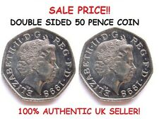 More details for double sided coin 50p / 50 pence coin [double headed / double tailed coin]