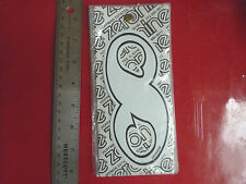 VINTAGE BIKE BICYCLE BMX MX NUMBER STICKER # 8 NOS NUMBER PLATE WHITE AND BLACK