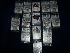 11 PACKS OF RARE STAR WARS CLONE WARS ANIMATED STT TOP TRUMPS CARDS