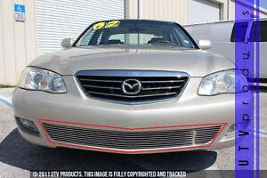 GTG 2001 - 2002 Mazda Millenia 1PC Polished Overlay Bumper Billet Grille Grill