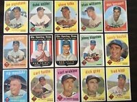 ⚾️⚾️1959 Topps Baseball Los Angeles Dodgers Lot Of 15 Koufax Snider Bessent⚾️⚾️
