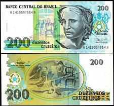 BRAZIL 200 CRUZEIROS 1990 UNC P.229
