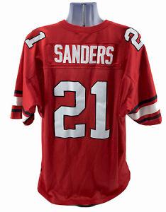 Mitchell Ness Throwbacks Jersey Deion Sanders 21 Mens Sz 54 Red Oklahoma State
