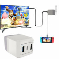 HDMI Type C Adapter For Nintend Switch Charging Portable Dock + Video Converter