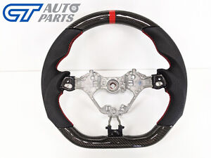 CARBON Fibre LEATHER Steering Wheel Red Line for 17-19 TOYOTA 86 Subaru BRZ FT86