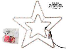 (17997) Estrella 55cm luz multicolor para exterior