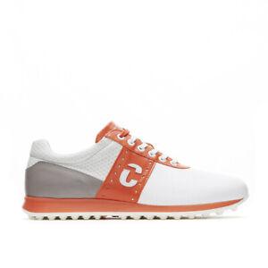 Duca Del Cosma Mens Belair Dimple Golf Shoes - White