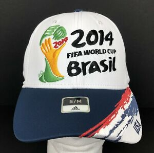 2014 FIFA World Cup Brasil Team USA Fitmax Hat Size S/M by adidas Licensed NWT