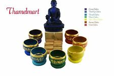 7 Color Chakra Healing Tibetan Singing Bowls hand casting by hand made in nepal