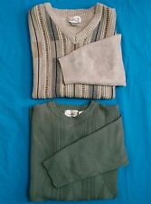 Arnold Palmer Sweaters Lot Of 2 Mens Size XL Sage Green & Beige Acrylic Wool