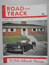 Vintage Road & Track Magazine January 1951