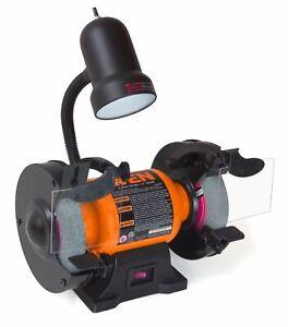 WEN 2.1-Amp 6-Inch Bench Grinder With Flexible Work Light, 4276