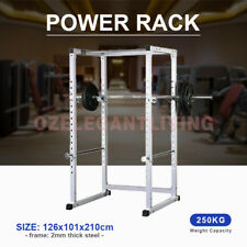 Power Rack Squat Cage Crossfit Stands Pull Up Home Gym Strength Rack