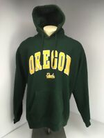Vtg 90s NCAA Oregon Ducks hoodie/pullover/sweater Sz XL Embroidered Patches